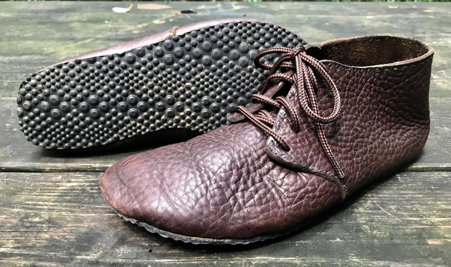 Pair of lace up turn shoes with Vibram sole