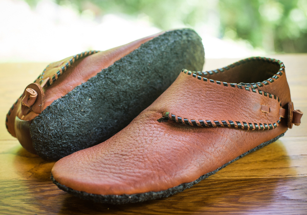 scandinavian handmade leather shoes made in shoemaking workshop