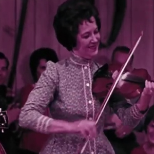 Old time fiddle player Lily May Ledford performing